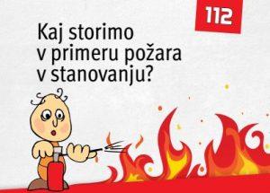 Kaj storiti v primeru požara